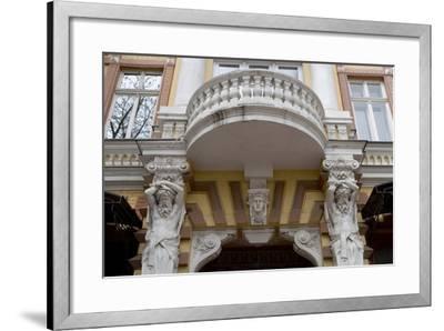 Detail of the Decoration on the Facade of Jugendstil Building, Odessa, Ukraine--Framed Photographic Print