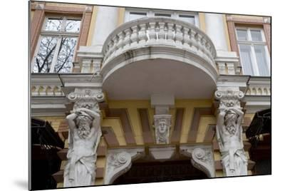 Detail of the Decoration on the Facade of Jugendstil Building, Odessa, Ukraine--Mounted Photographic Print