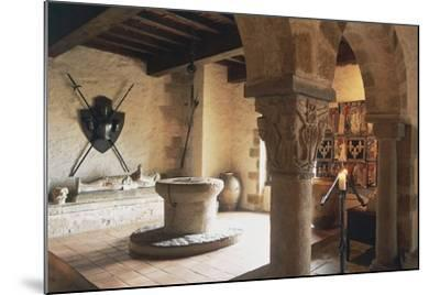 Guardroom of Chateau of Busseol, Founded in 12th Century, Auvergne, France--Mounted Photographic Print