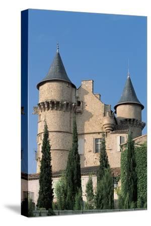 Low Angle View of a Castle, Chateau De Margon, Languedoc-Rousillon, France--Stretched Canvas Print