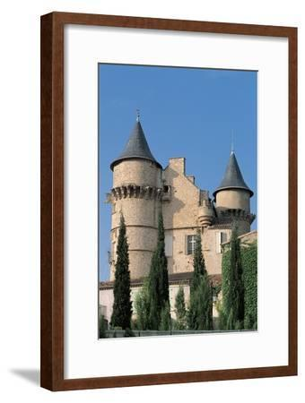 Low Angle View of a Castle, Chateau De Margon, Languedoc-Rousillon, France--Framed Photographic Print