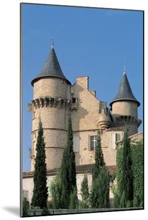 Low Angle View of a Castle, Chateau De Margon, Languedoc-Rousillon, France--Mounted Photographic Print