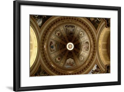 Ceiling of Cathedral of St Eusebius, Vercelli Cathedral, Piedmont, Italy--Framed Photographic Print