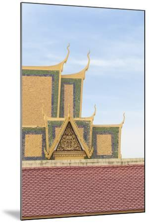 Roofs at the Royal Palace Complex, with the Silver Pagoda One at the Top, Phnom Penh, Cambodia--Mounted Photographic Print