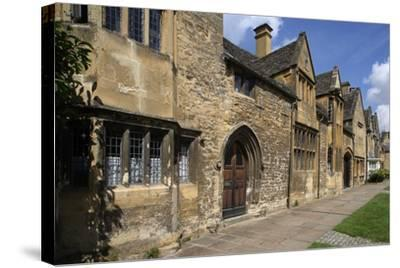 Typical Sandstone Houses, Chipping Camden, Gloucestershire, United Kingdom--Stretched Canvas Print