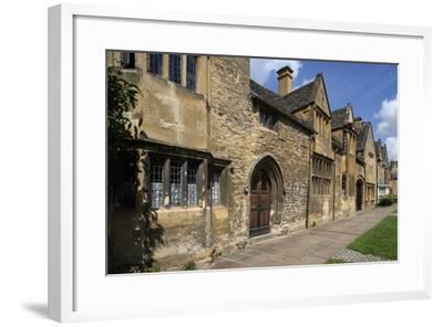 Typical Sandstone Houses, Chipping Camden, Gloucestershire, United Kingdom--Framed Photographic Print