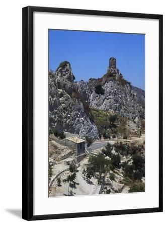Norman Tower known as Pizzofalcone Tower, Roccella Ionica, Calabria, Italy--Framed Photographic Print