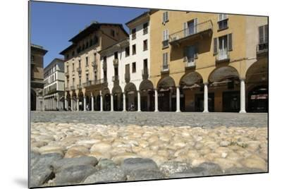 Paving in Piazza Della Repubblica and its Arcades, Novara, Piedmont, Italy--Mounted Photographic Print