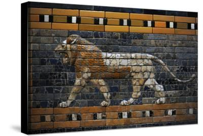 Babylon's Lion. Lion Decorated the Processional Wal (Ishtar Gate). 575 BC--Stretched Canvas Print