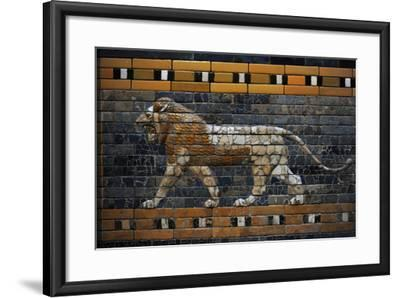 Babylon's Lion. Lion Decorated the Processional Wal (Ishtar Gate). 575 BC--Framed Photographic Print