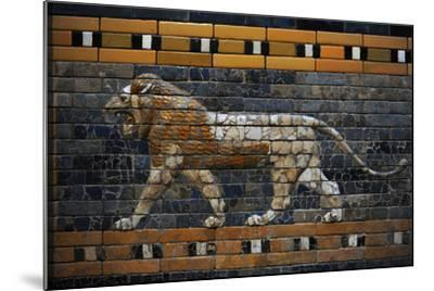 Babylon's Lion. Lion Decorated the Processional Wal (Ishtar Gate). 575 BC--Mounted Photographic Print