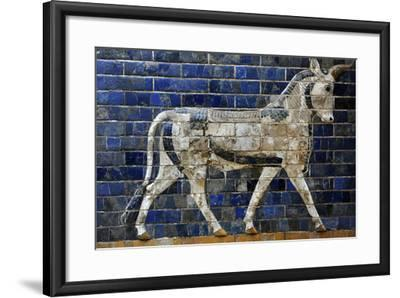 Decoration with Aurochs and Dragons in the Ishtar Gate. 6th Century BC. Babylon--Framed Photographic Print