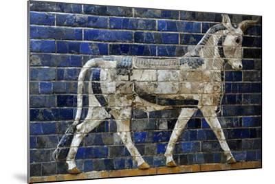 Decoration with Aurochs and Dragons in the Ishtar Gate. 6th Century BC. Babylon--Mounted Photographic Print