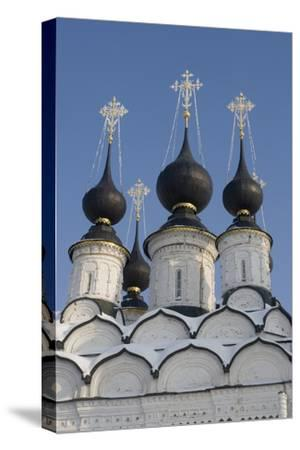 The Domes of the Winter Church of St Antipas, 1745, Suzdal, Golden Ring, Russia--Stretched Canvas Print
