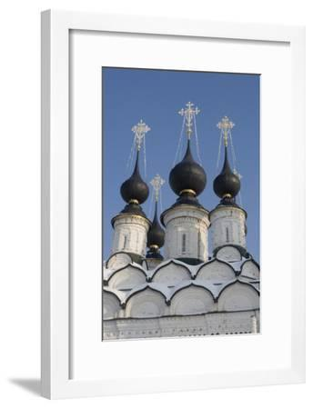 The Domes of the Winter Church of St Antipas, 1745, Suzdal, Golden Ring, Russia--Framed Photographic Print