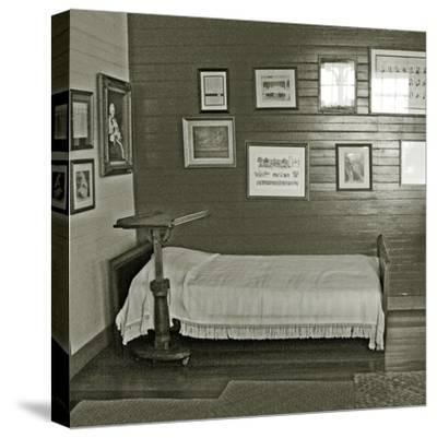 Robert Louis Stevenson's Sickbed with Writing Stand, Villa Vailima, Apia, Samoa--Stretched Canvas Print