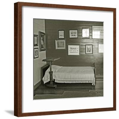 Robert Louis Stevenson's Sickbed with Writing Stand, Villa Vailima, Apia, Samoa--Framed Photographic Print