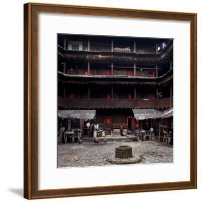 Fujian Tulou (Fortified Earth Building), Tin Shi Lou, Meilin, Fujian Province, China--Framed Photographic Print