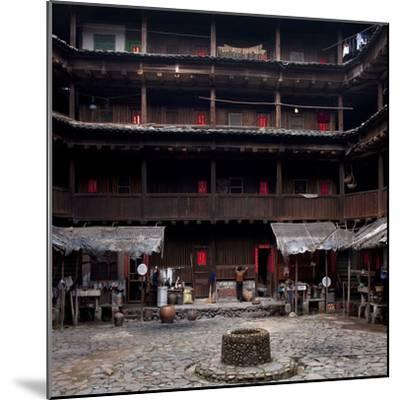 Fujian Tulou (Fortified Earth Building), Tin Shi Lou, Meilin, Fujian Province, China--Mounted Photographic Print