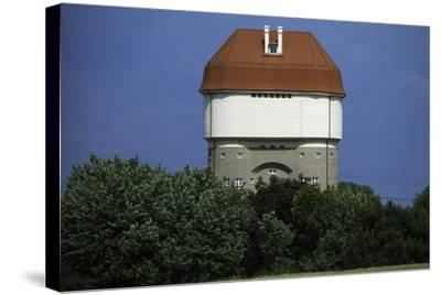 Hohenbudberg Water Tower, Duisburg-Rheinhausen, Baden-Wuerttemberg, Germany--Stretched Canvas Print