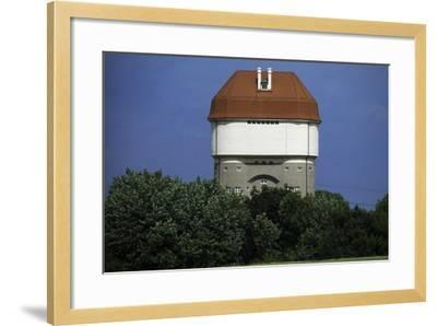 Hohenbudberg Water Tower, Duisburg-Rheinhausen, Baden-Wuerttemberg, Germany--Framed Photographic Print