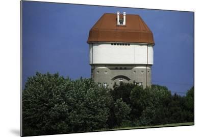 Hohenbudberg Water Tower, Duisburg-Rheinhausen, Baden-Wuerttemberg, Germany--Mounted Photographic Print