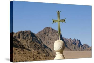 Cross on Top of Saint Catherine's Monastery, Sinai, Egypt, 6th Century--Stretched Canvas Print