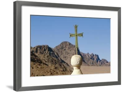 Cross on Top of Saint Catherine's Monastery, Sinai, Egypt, 6th Century--Framed Photographic Print