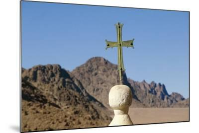 Cross on Top of Saint Catherine's Monastery, Sinai, Egypt, 6th Century--Mounted Photographic Print