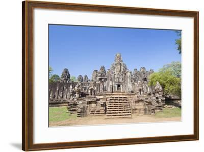 The South Side of the Bayon Temple, Angkor Thom, Angkor, Siem Reap, Cambodia--Framed Photographic Print