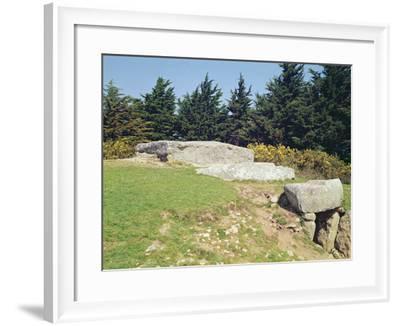 Dolmen, Dol-Ar-March'Hadourien (La Table Des Marchands) Megalithic--Framed Photographic Print