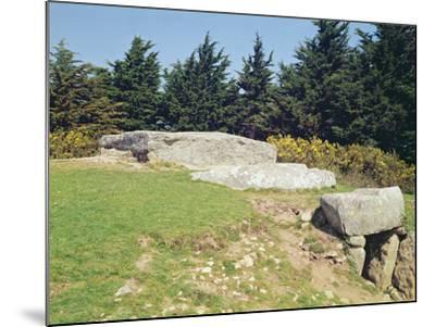 Dolmen, Dol-Ar-March'Hadourien (La Table Des Marchands) Megalithic--Mounted Photographic Print