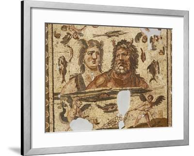 Oceanus and Tethys, Mosaic from Ancient Daphne, Harbiye, Turkey. Roman Civilization, 4th Century Ad--Framed Photographic Print