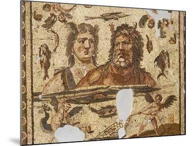 Oceanus and Tethys, Mosaic from Ancient Daphne, Harbiye, Turkey. Roman Civilization, 4th Century Ad--Mounted Photographic Print