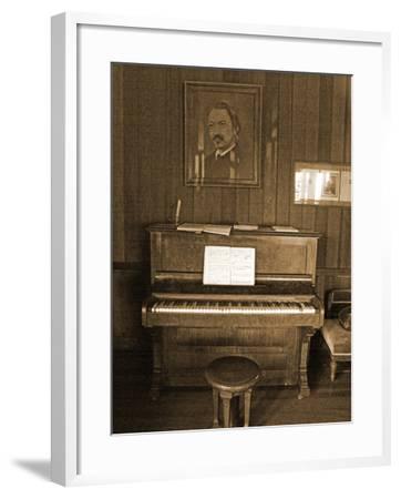 Robert Louis Stevenson's Piano in the Great Hall, Villa Vailima, Apia, Samoa--Framed Photographic Print