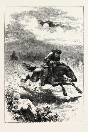 Pursuit of Paul Revere, the Scout, USA, 1870s--Framed Giclee Print