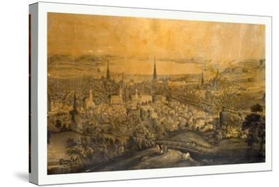 Birds Eye View of Syracuse, N.Y., 1850s?, USA--Stretched Canvas Print