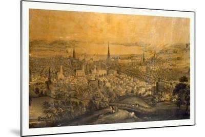 Birds Eye View of Syracuse, N.Y., 1850s?, USA--Mounted Giclee Print