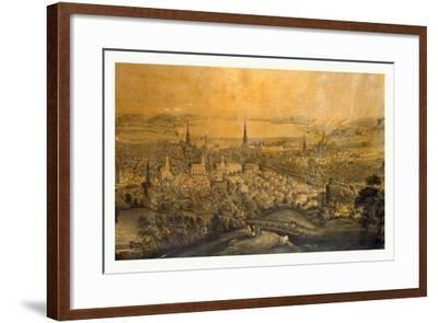 Birds Eye View of Syracuse, N.Y., 1850s?, USA--Framed Giclee Print