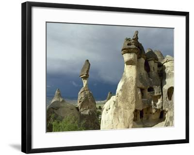 Turkey. Cappadocia. Pasabaglari. Monk's Valley. Fairy Chimney. Detail. Central Anatolia--Framed Photographic Print