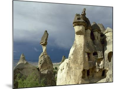 Turkey. Cappadocia. Pasabaglari. Monk's Valley. Fairy Chimney. Detail. Central Anatolia--Mounted Photographic Print
