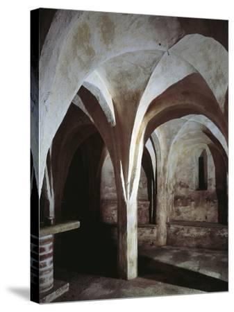 Crypt of a Church, Basilica of St. Michael, Oleggio, Piedmont Region, Italy--Stretched Canvas Print