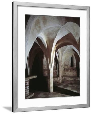 Crypt of a Church, Basilica of St. Michael, Oleggio, Piedmont Region, Italy--Framed Photographic Print