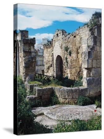 Ruins of Baptistery of San Giovanni, 4th-5th Century, Canosa, Apulia, Italy--Stretched Canvas Print