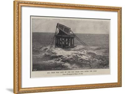 All That Was Left of the Old Chain Pier after the Gale--Framed Giclee Print