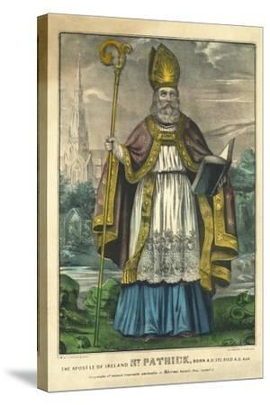 St Patrick, Pub. Currier and Ives, C.1860--Stretched Canvas Print