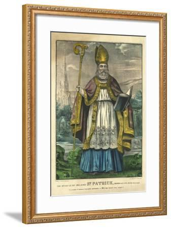 St Patrick, Pub. Currier and Ives, C.1860--Framed Giclee Print