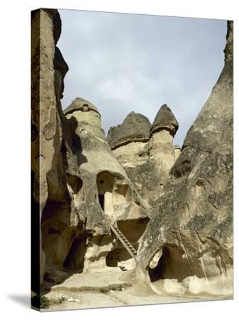 Turkey. Cappadocia. Pasabaglari. Monk's Valley. Cave House. Detail. Central Anatolia--Stretched Canvas Print