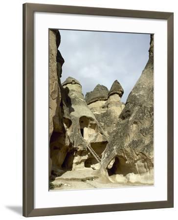 Turkey. Cappadocia. Pasabaglari. Monk's Valley. Cave House. Detail. Central Anatolia--Framed Photographic Print