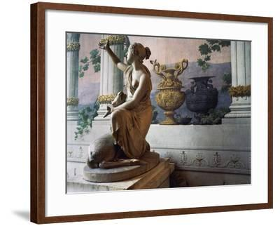 Statue of Diana, Gallery of Statues, Ducal Palace, Lucca, Tuscany, Italy--Framed Photographic Print